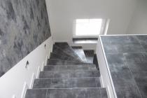 Designboden auf der Treppe