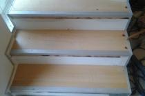 Treppe in Arbeit